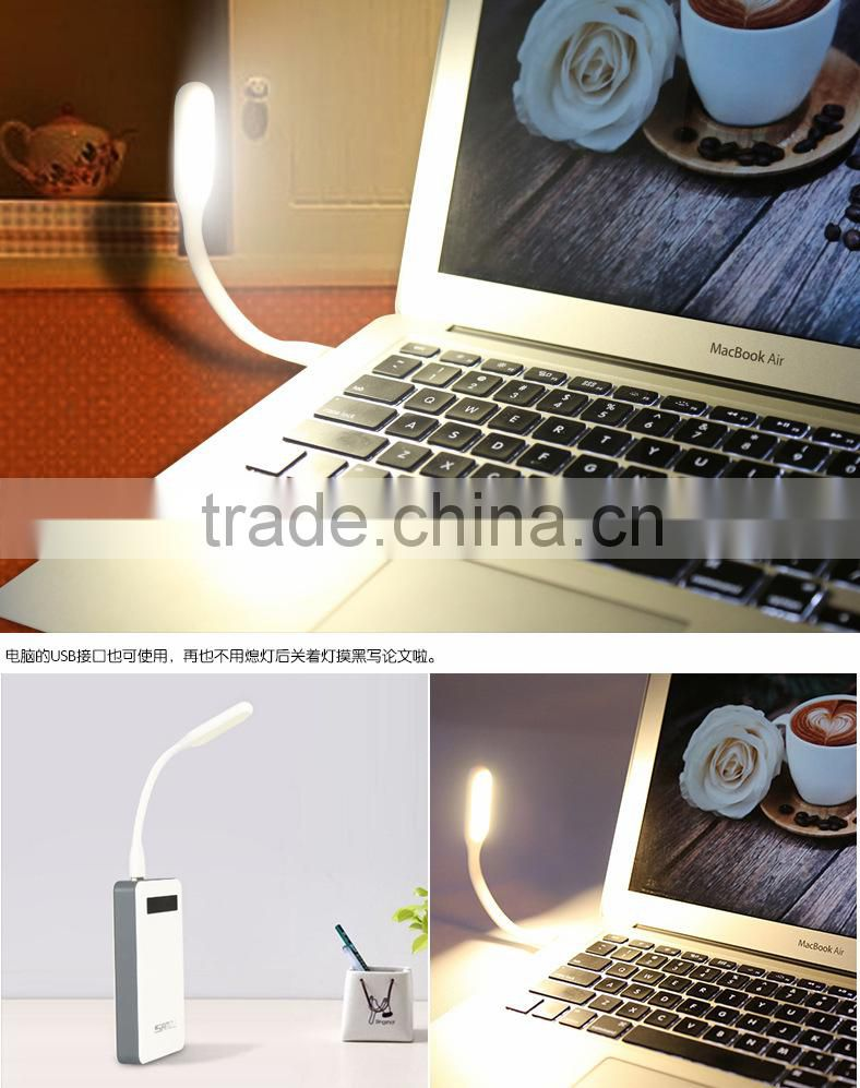 Ultra Bright 1.2W LEDs USB lamp for Notebook Computer Laptop PC Portable Flexible metal Neck LED USB light foldable