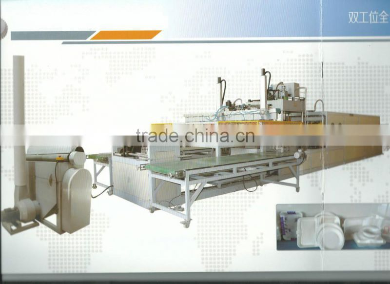 Food container thermoforming machine