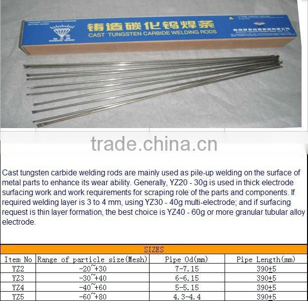 Diamond brand cast tungsten carbide welding rods