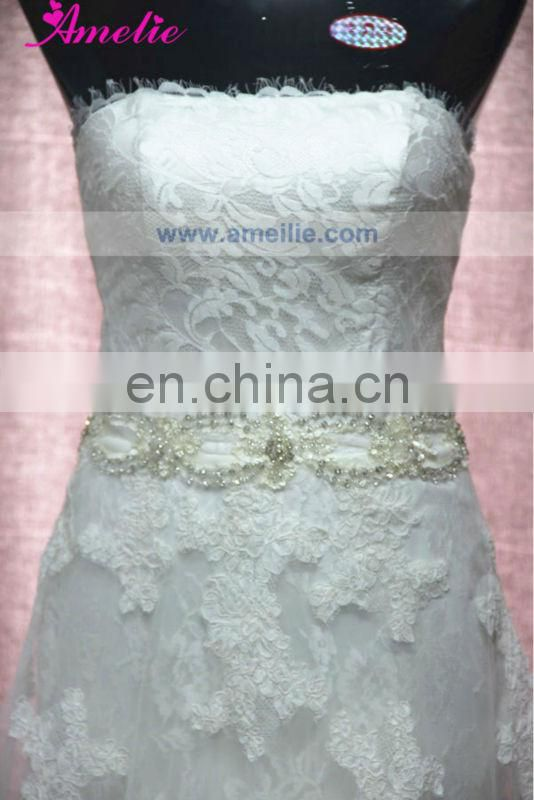 AC1058 Off the Shoulder Lace Overlay Ivory Wedding Dresses