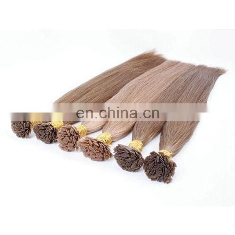 Best selling Italian Fusion Keratin Hair Pre Bonded Hair Extensions Flat Tip Hair