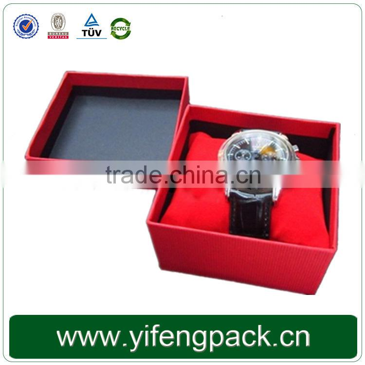 Yifeng 100% quanlity wholesale luxury square brown cardboard packaging paper custom jewellery watch gift box
