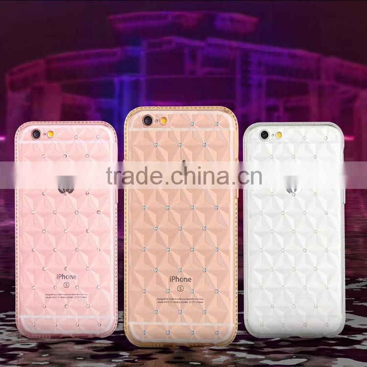 Crystal Clear dimond tpu Back Cover Case for iphone 6 2016 case
