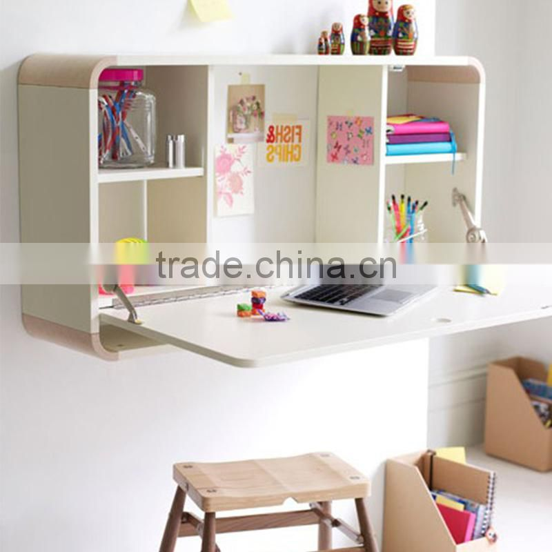 New Arrival Pull Down Desk Wall Mounted Folding Table For Living Home Room Mdf Wood Shelf Study