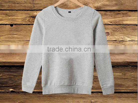 Wholesale 360g 100% cotton cp lovers long sleeve thin fleece Crewneck sweatshirt blank solid color hoodies