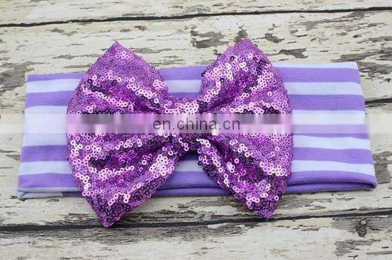 Sequin Bow Headwrap Top Knot Baby Headband Wide Headband For Kids Baby Hair Accessories