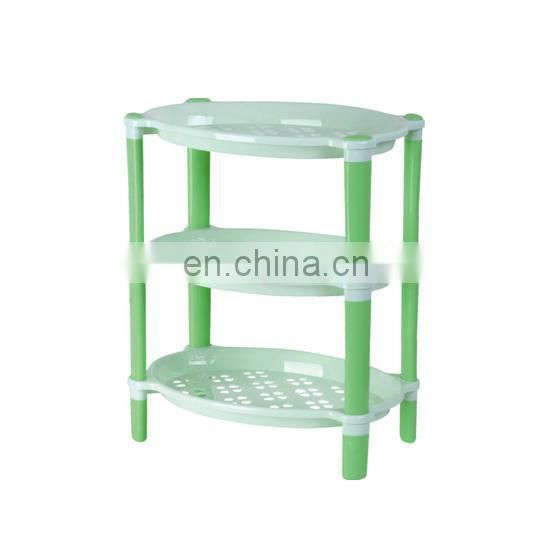 Good quality plastic rectangle storage shelf