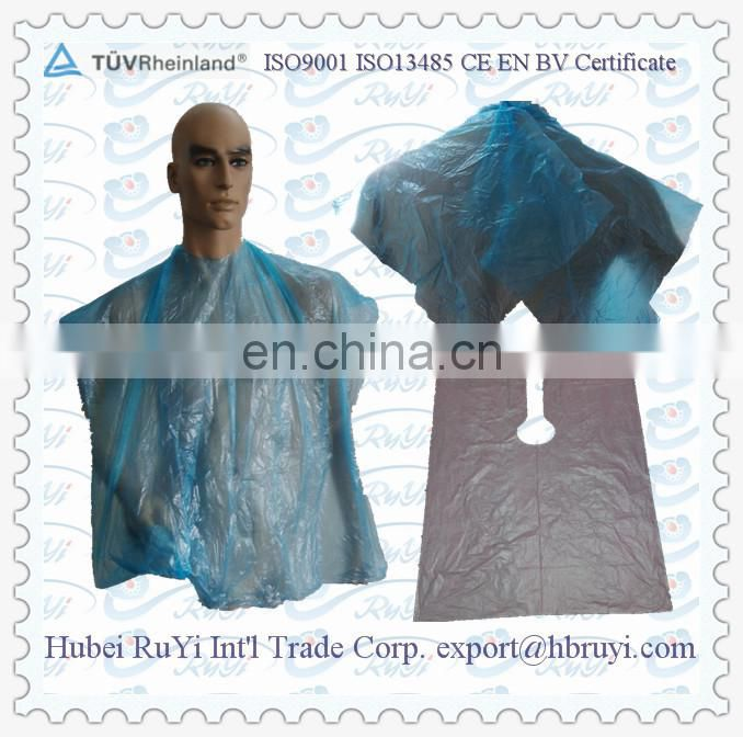 Disposable PE Hair Salon Cape