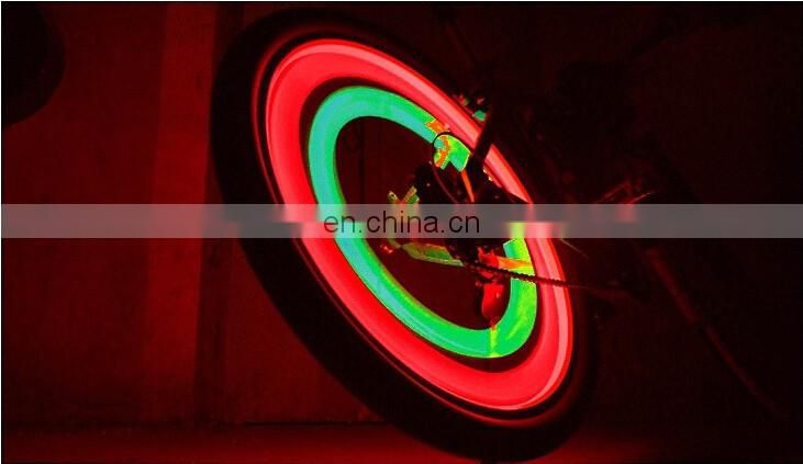 bike wheel light/hot sell New waterproof ABS rear tail laser bicycle led light