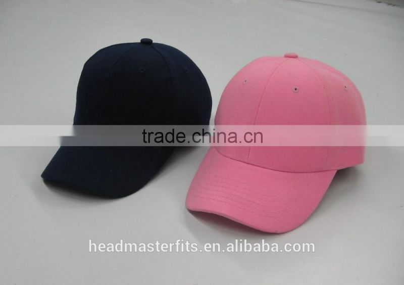 One color blank no logo cheap baby hip hop caps kids baseball caps