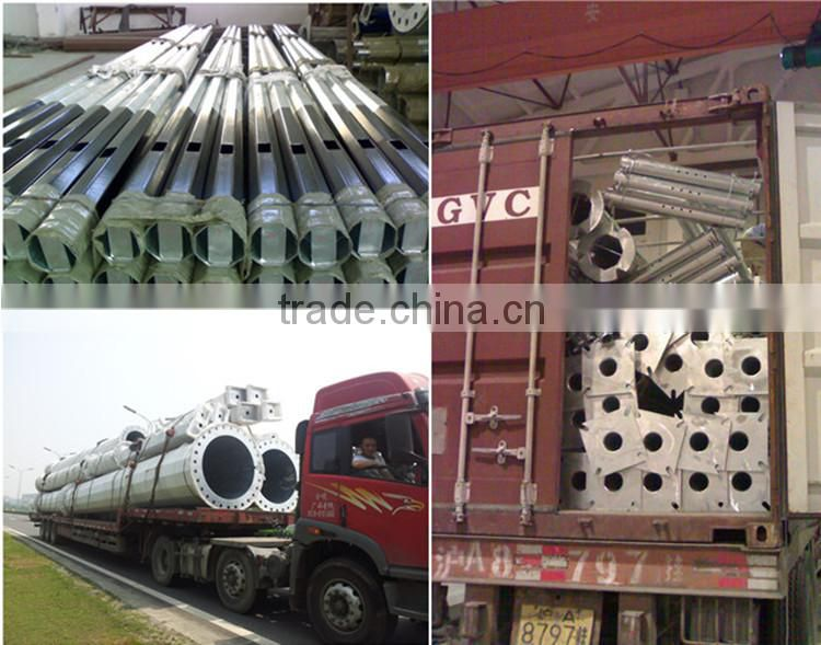 Q235 Polygonal Galvanized Traffic and Telescopic cctv Camera Mast Steel Pole Post Control Rod