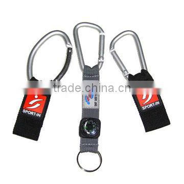 2013 new Carabiner keychain with pvc label