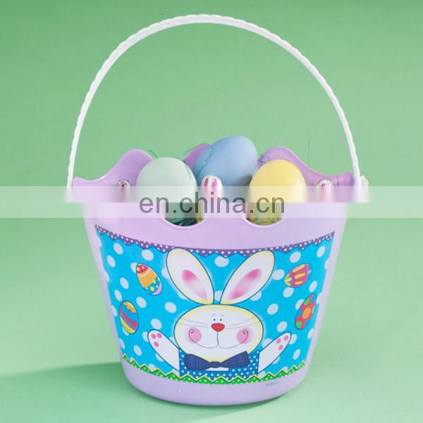 eater party rabbit design plastic buckets
