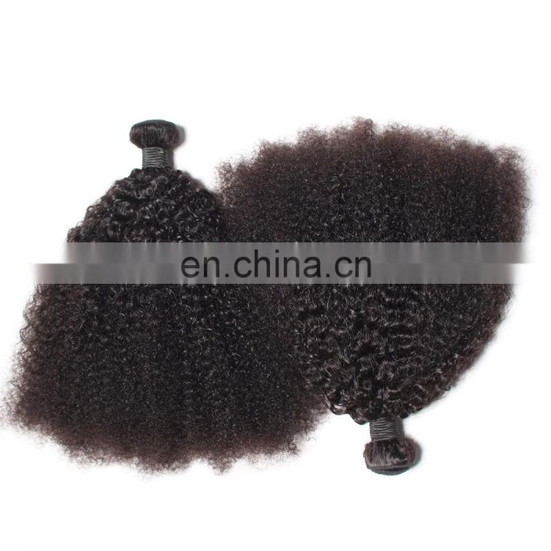 brazilian human hair afro kinky curly raw unprocessed virgin human hair extension
