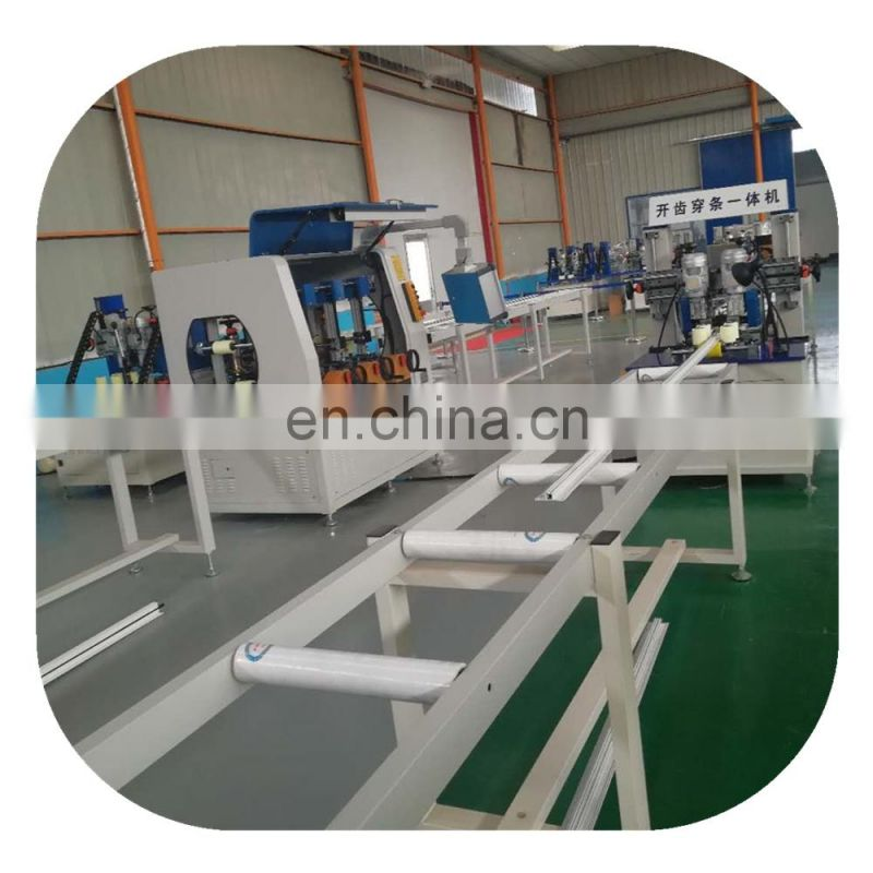PA thermal break assembly crimping machines for aluminium profiles and aluminium window and door