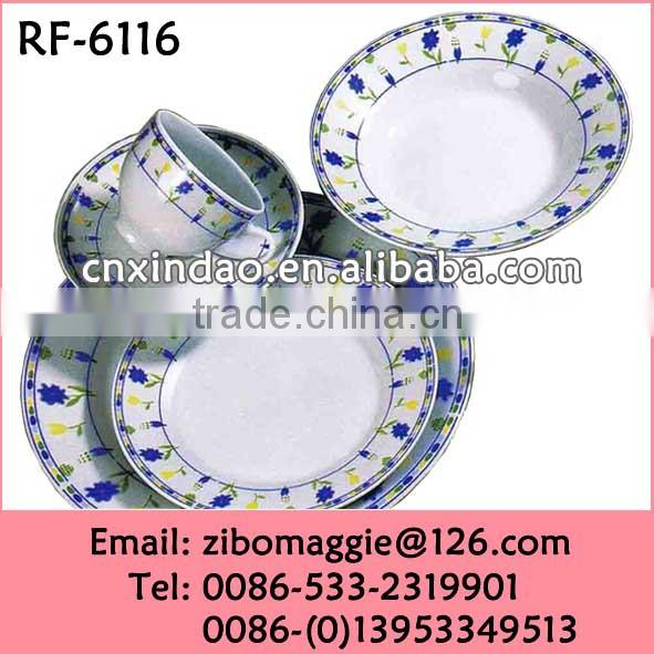 Round Sahpe Hot Sale Ceramic Daily Used Restaurant Dinnerware Set