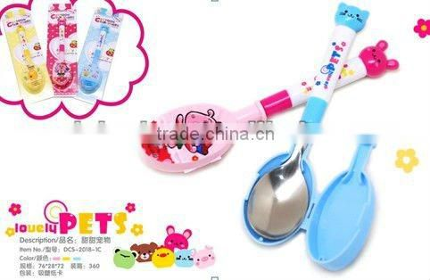 cute children stainless spoon