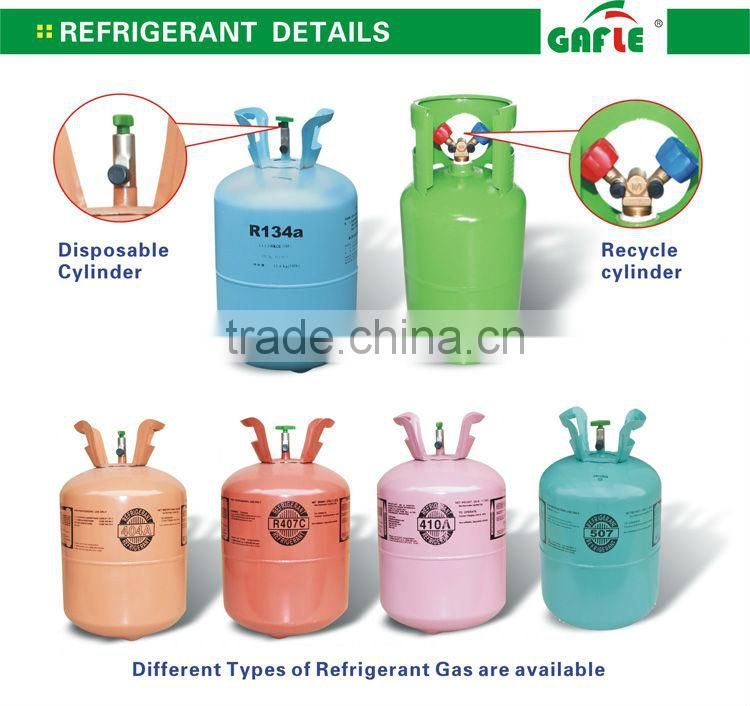 replace 22 refrigerant gas high purity R134a Refrigerant gas
