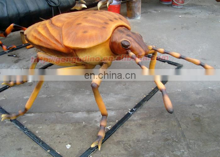 Lifelike fiberglass stink bug statues for hot sale