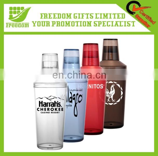 Customized Logo Promotional Plastic Cocktail Shaker