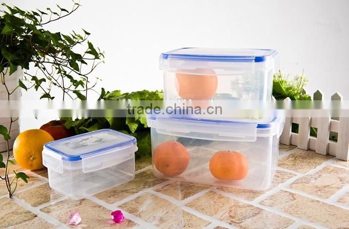 2016 kitchen plastic utensil,square plastic food container