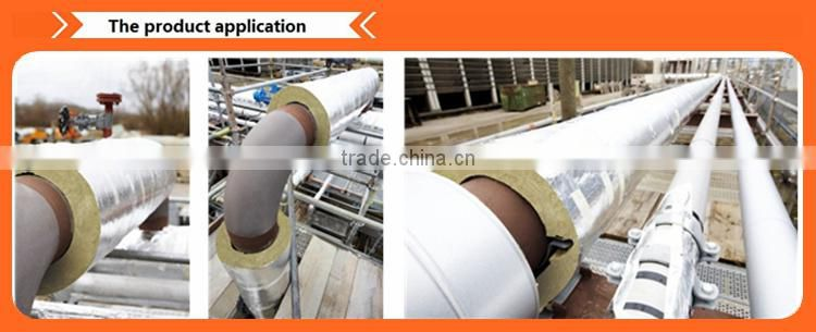 Prefabricated thermal insulated pipe rock wool of Rock Wool