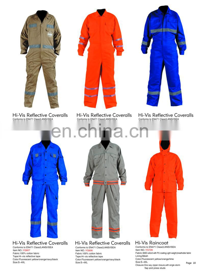 reflective suit coveralls work unifoem in work clothes