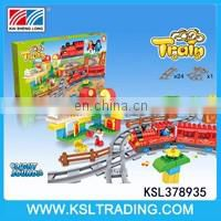 Popular kids bump and go electric car toys with blocks