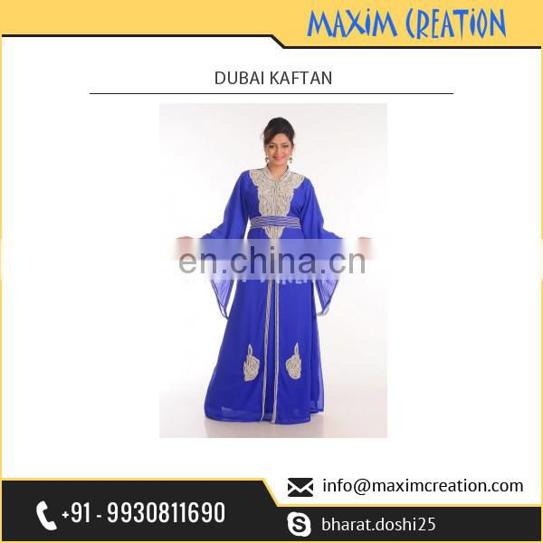 Leading Fashion Store Supplying Exotic Royal Blue Dubai kaftan at Bulk Rate