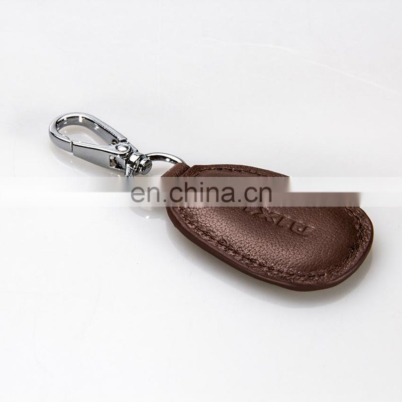 Simple Design Key Ring High Quality Genuine Leather Key Chain on Promotional
