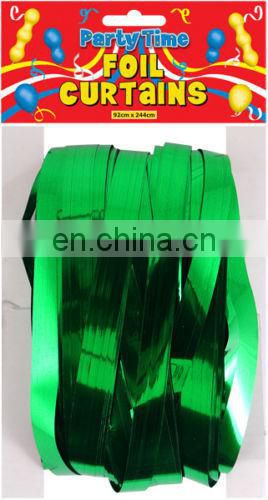 Tinsel Shimmer Coloured Foil Door Curtains