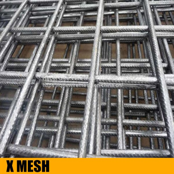 High strength ribbed profile concrete reinforcing wire mesh for ...