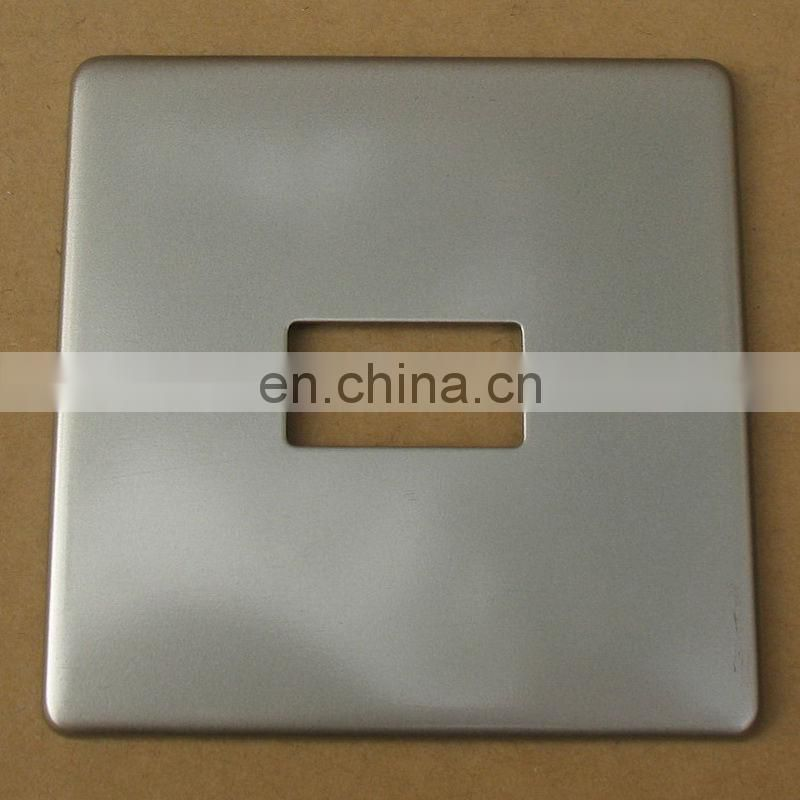 OEM Metal Fabricated Stamping with satin chrome self adhesive metal plate