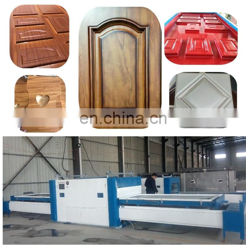 PVC film laminating machine on the door MDF panel vacuum membrane press machine 06