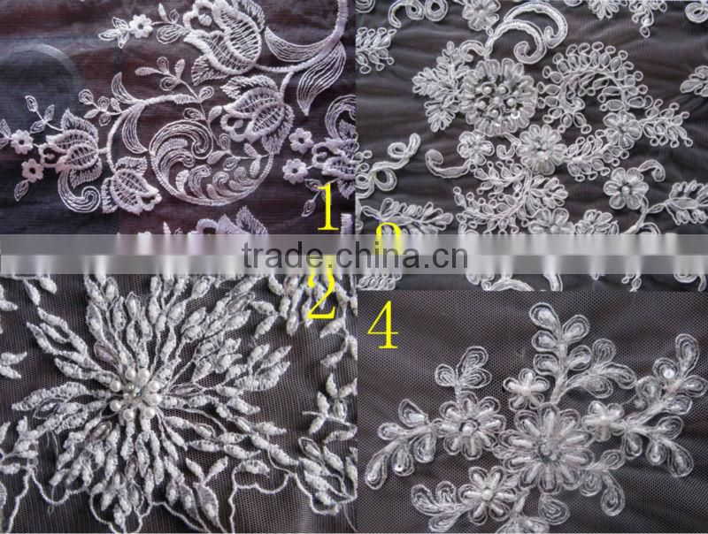 Sheer Net Embroidered Baroque Lace Fabric