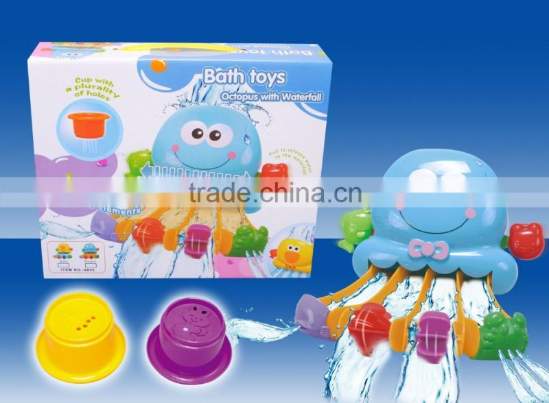 Babies product squirt bath toy with water pipes squirt bath toys bathroom baby swim with CE/ROHS certificates