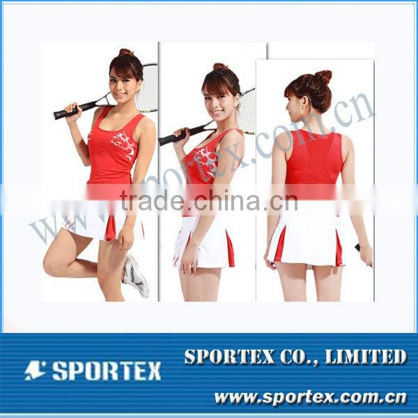 Sleeveless Border Skirt Outfit Womens Lady Golf Clothes MZ101