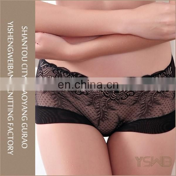 Wholesale four colors fashion lace breathable underwear panty for woman