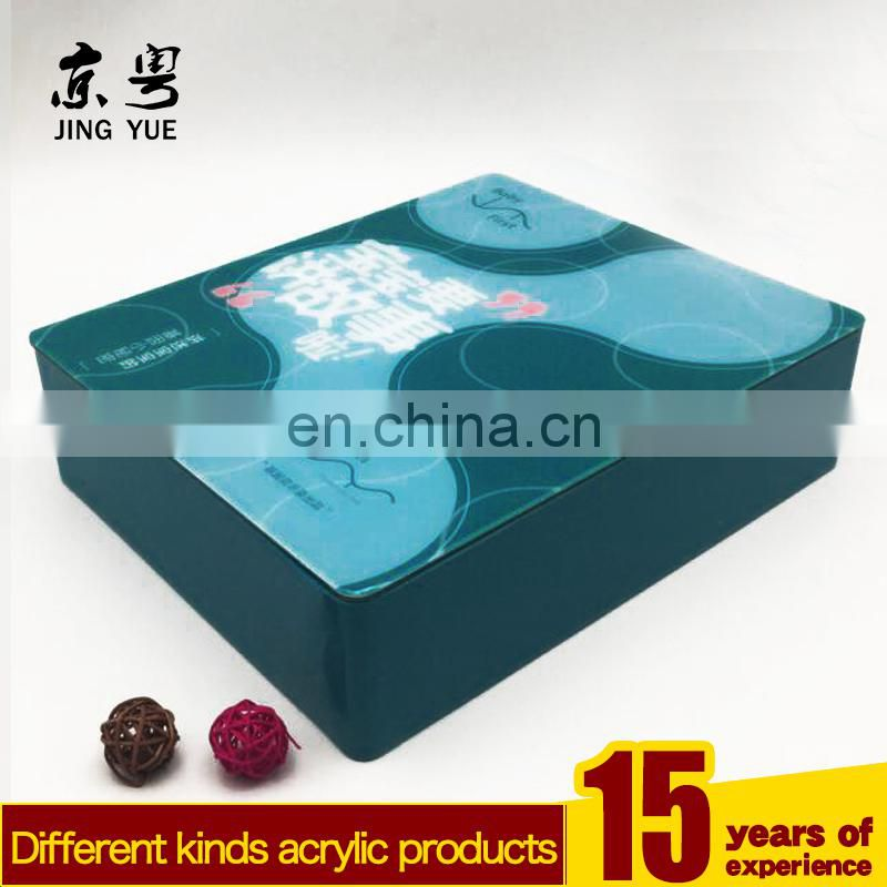 Factory custom colorful pmma plexiglass book case colored acrylic book box