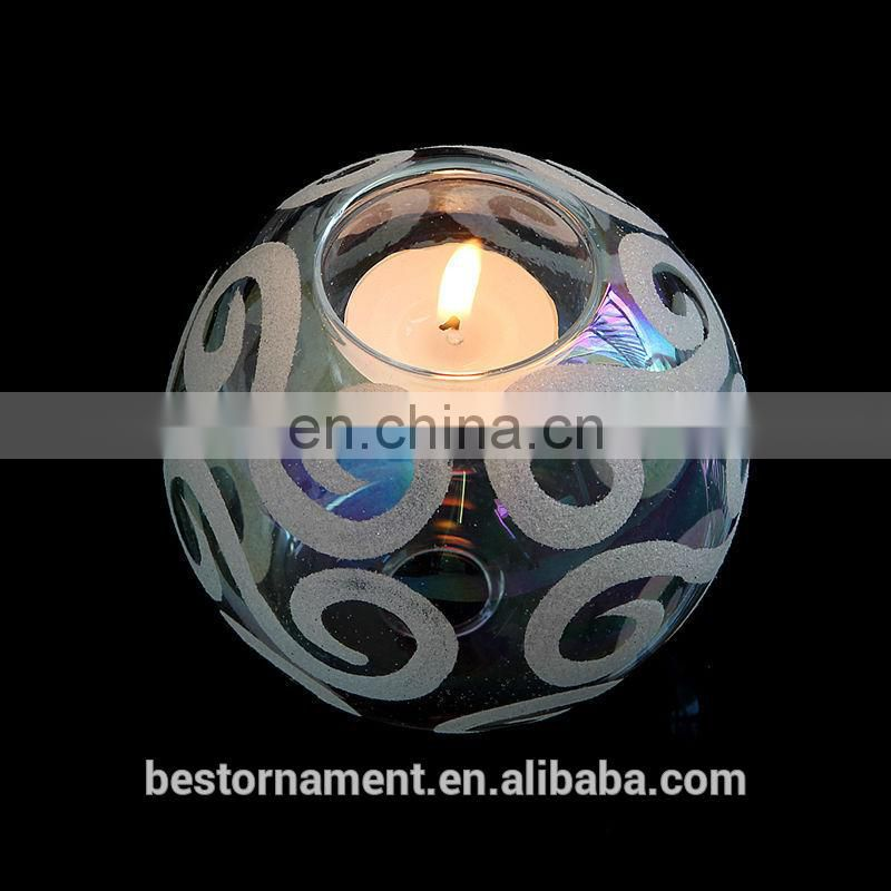 Glass Ball Tealight Candle Holder