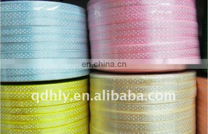 Colorful satin ribbon, polyster satin ribbon