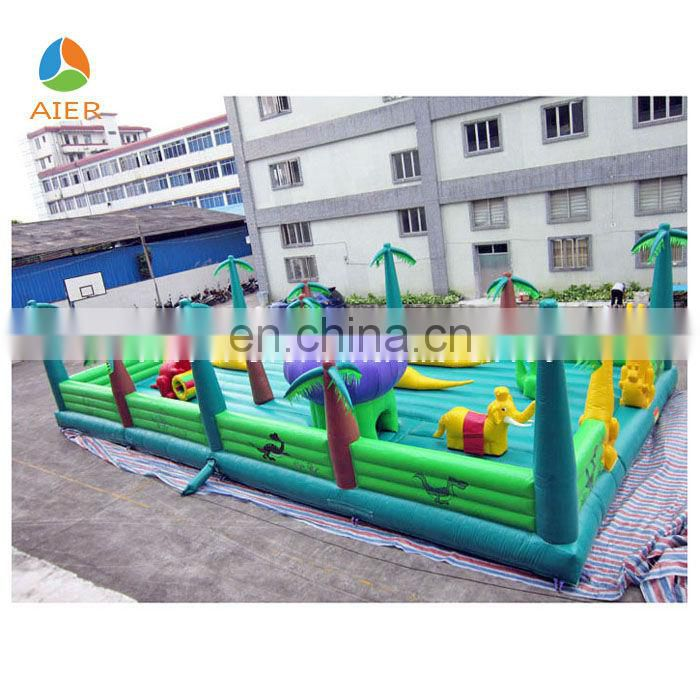 2014 Inflatable outdoor playground, Dinosaur park