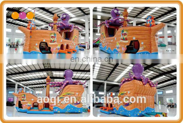 AOQI most polular big octopus pirate inflatable with free EN14960 certificate