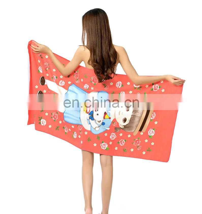 Wholesale Custom Made Activity Printing Microfiber Beach Towel With Good Absorption