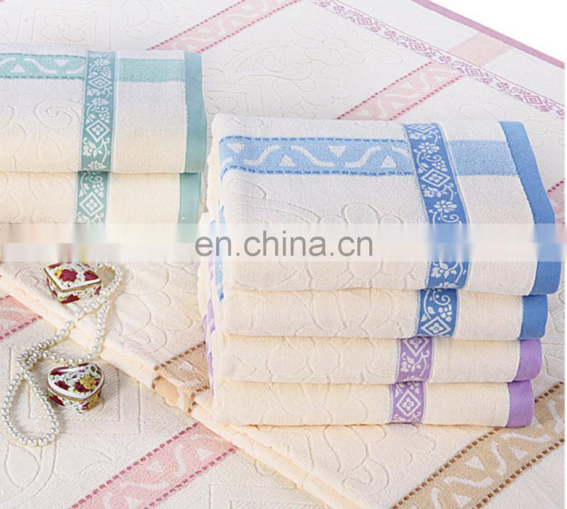 Wholesale 100% cotton jacquard geometric pattern towel blanket