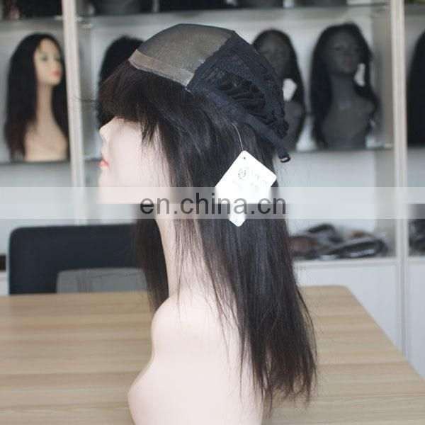Beautiful wholesale human hair full lace wig top quality silk base full lace wig