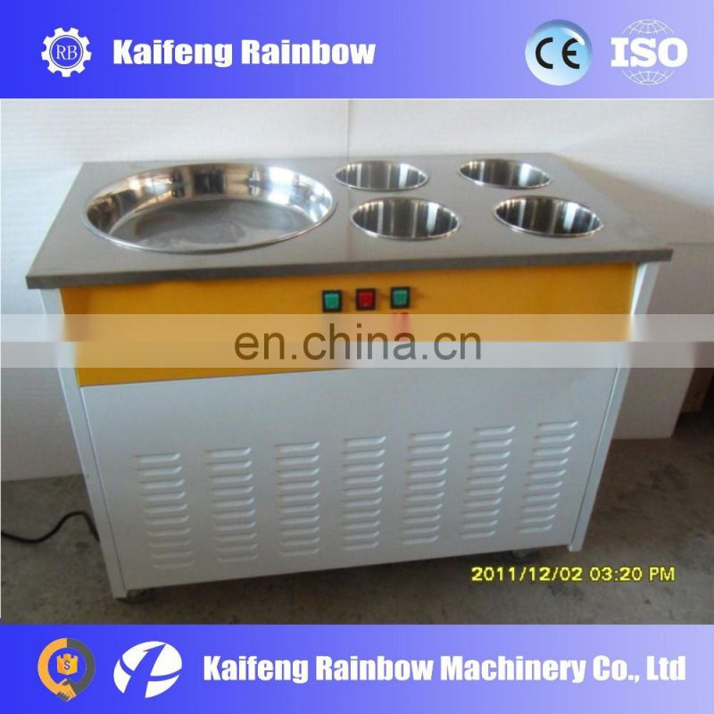 Best Selling New Condition Ice Cream Roll Equipment/Fried Yogurt Machine/Thailand Fry Ice Cream Pan