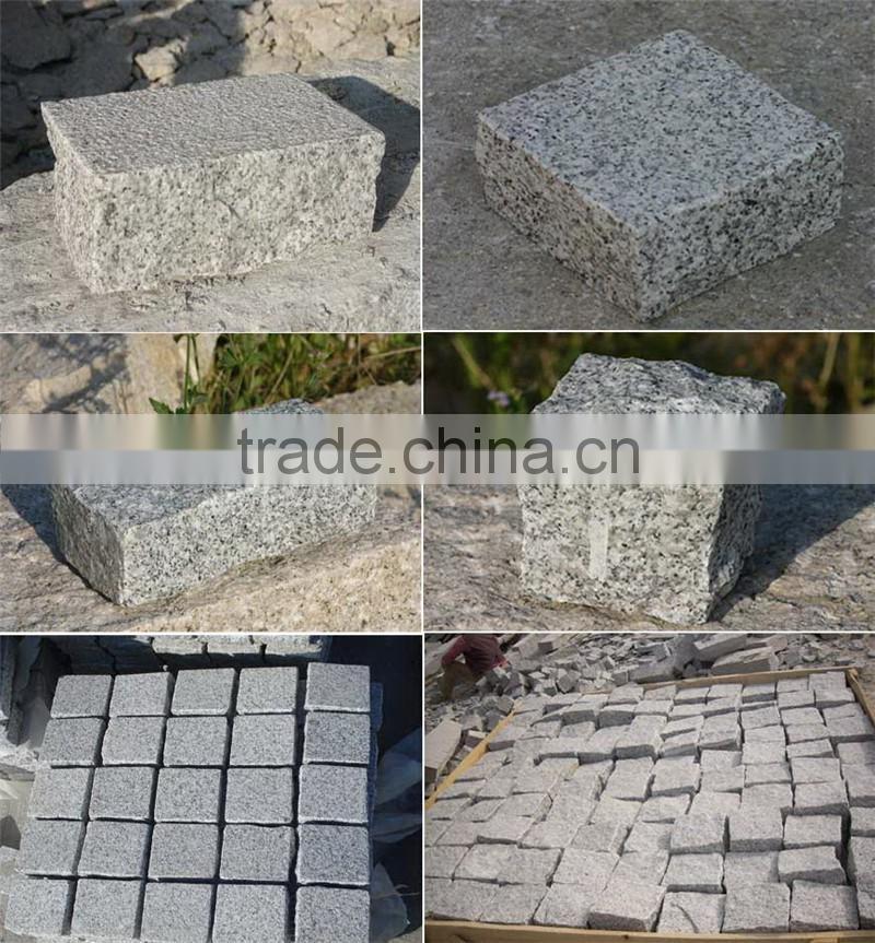 Round top granite stone parking bollard stone pillars DIS
