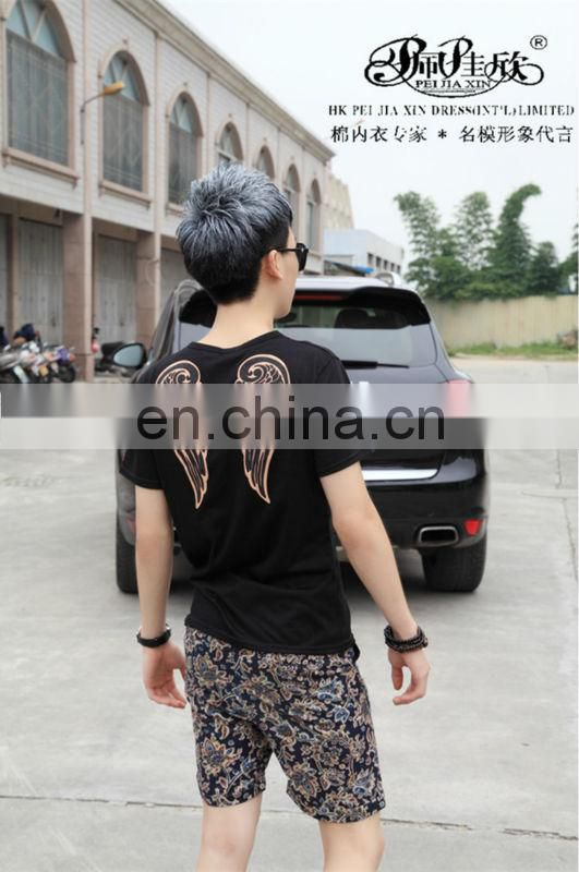 Peijiaxin Fashion Design Casual Style Two Sides Patterns Cheap Laser T shirt Printing Wholesale