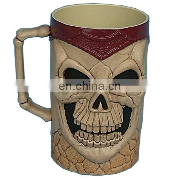 custom halloween skull mugs cup and plate